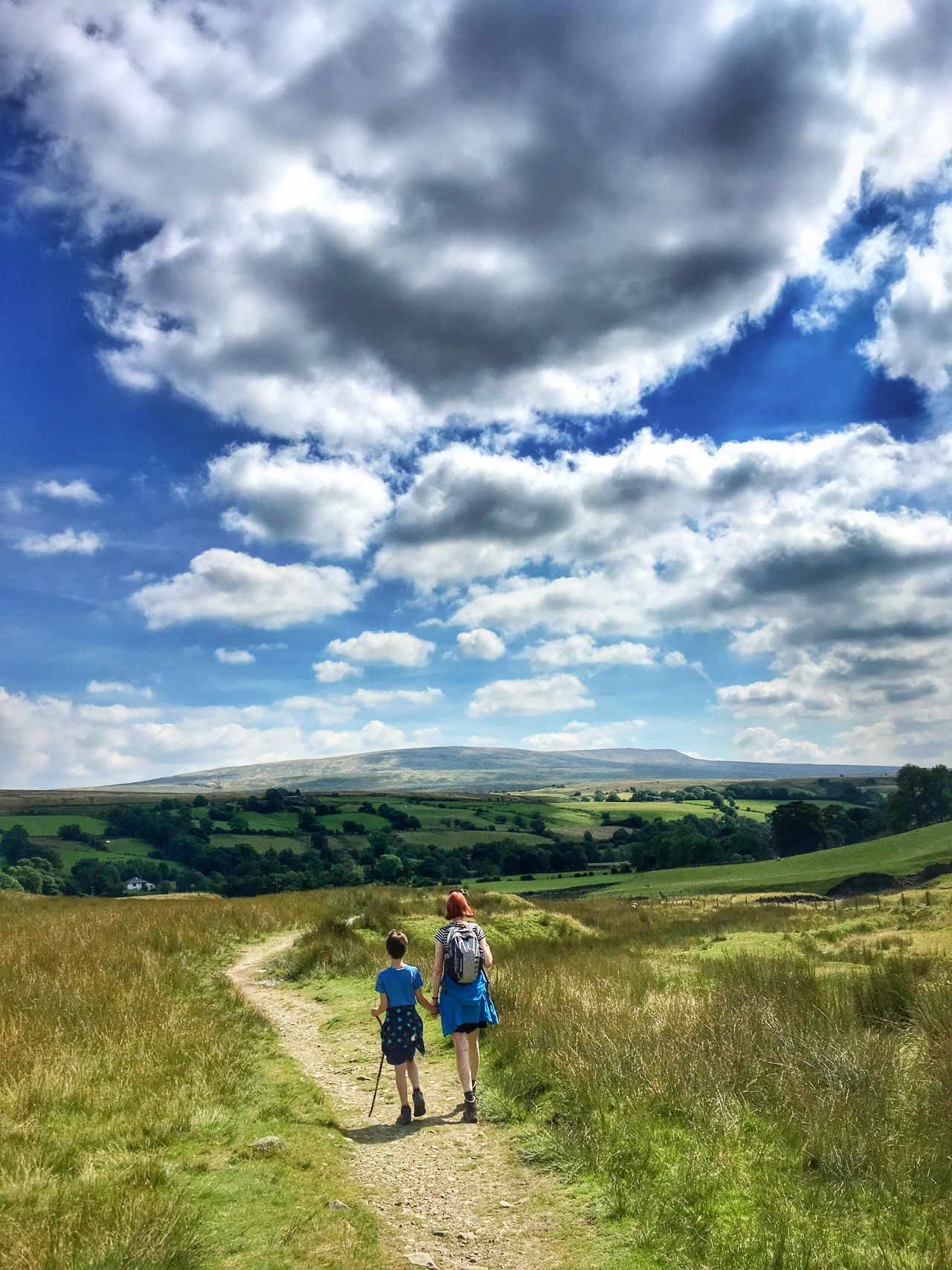 Howgill Fells Outdoors Mountain Outdoor Mountains Hill Hills Hiking Exploring Nature Family Mother Son Clouds And Sky Clouds Sky Summer