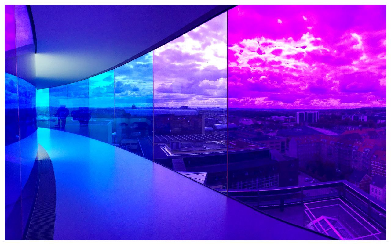Purple Modern Architecture Aarhus, Denmark Enjoying The View Panorama Blue Wave Color Palette Colour Of Life