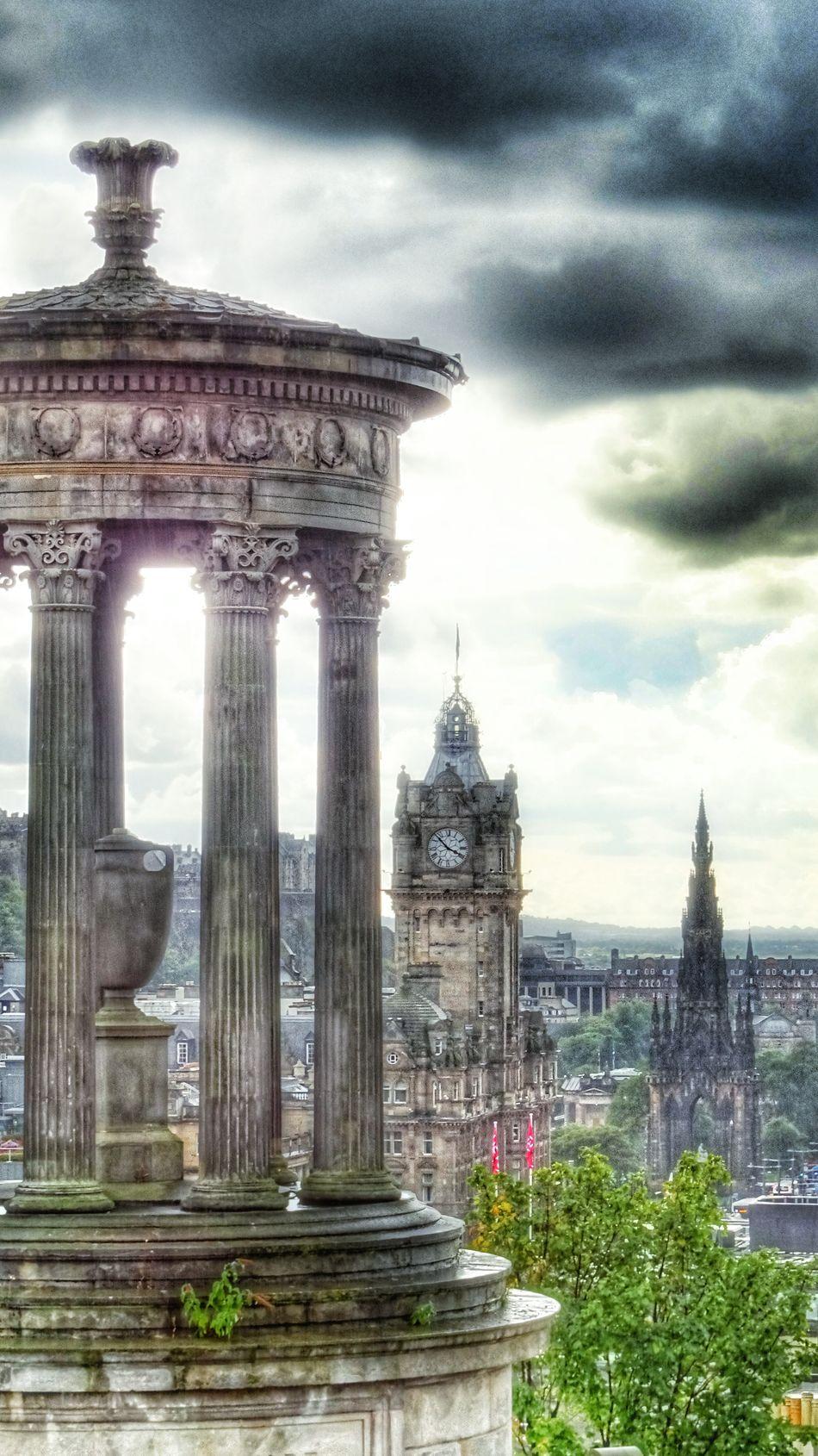 England🇬🇧 Edinburgh Cityscape Travel Photography Calton Hill City View  英国 爱丁堡 卡尔顿山 市景 The Architect - 2016 EyeEm Awards