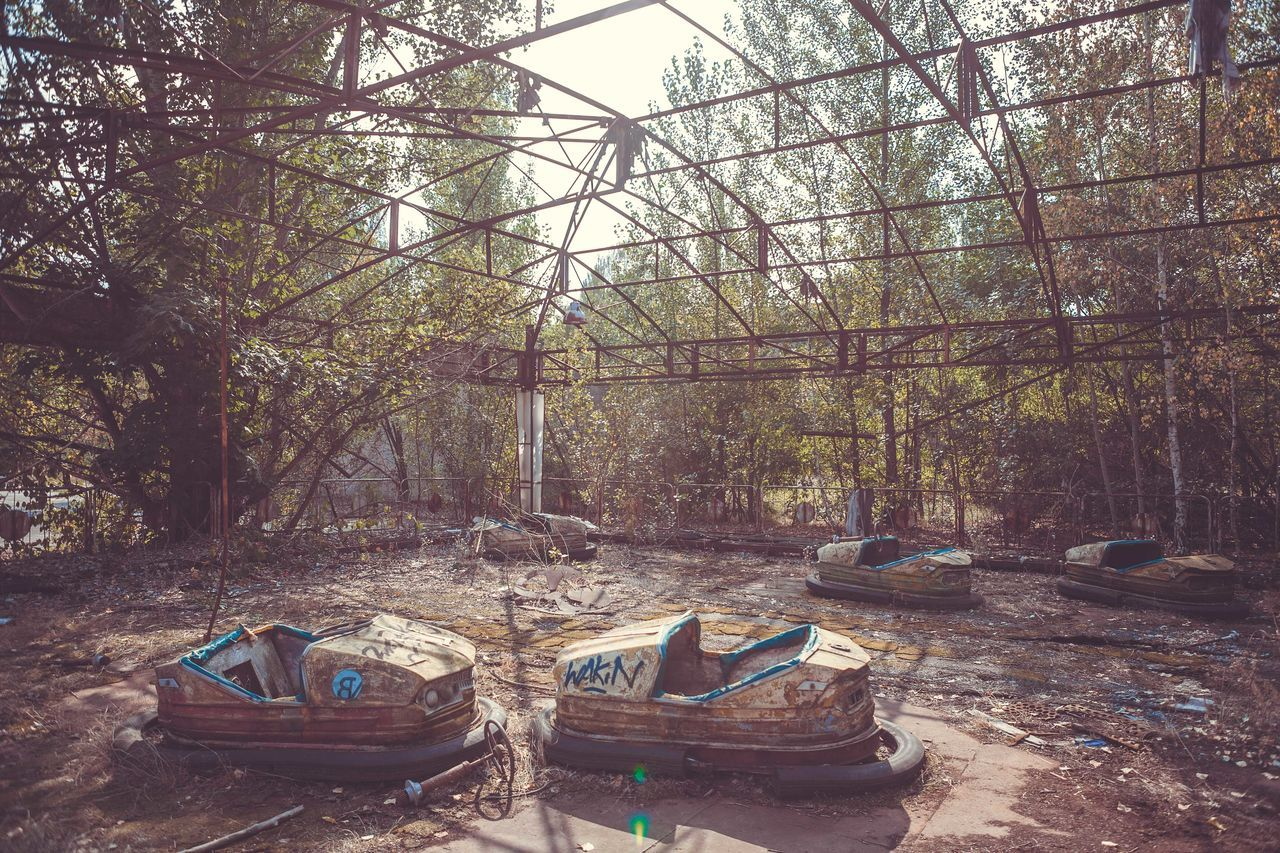 Abandoned Amusement Park Abandoned Places Amusement Parks Built Structure Chernobyl Chernobyl Exclusion Zone Creepy No People