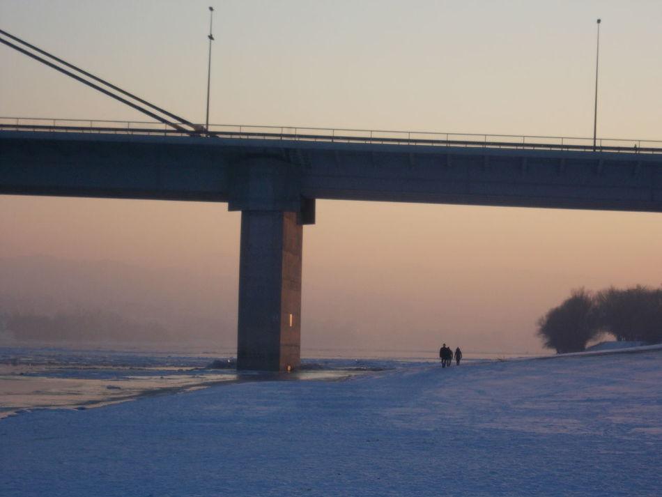 Bridge - Man Made Structure Danube Day Igor Bartolec Outdoors Sunset Winter