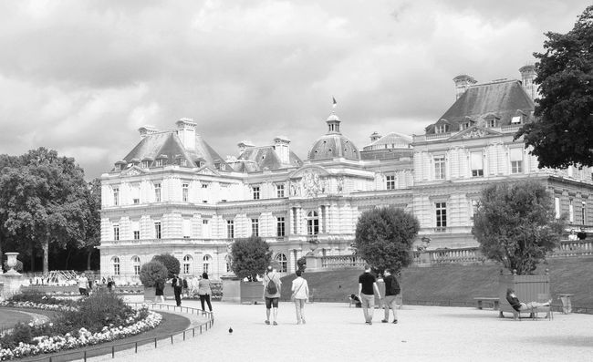 Battle Of The Cities People And Places Architecture Building Exterior Travel Destinations City View  Exceptional Photographs Bnw Photography Blackandwhite Jardin Du Luxembourg Paris, France  :-):-):-)