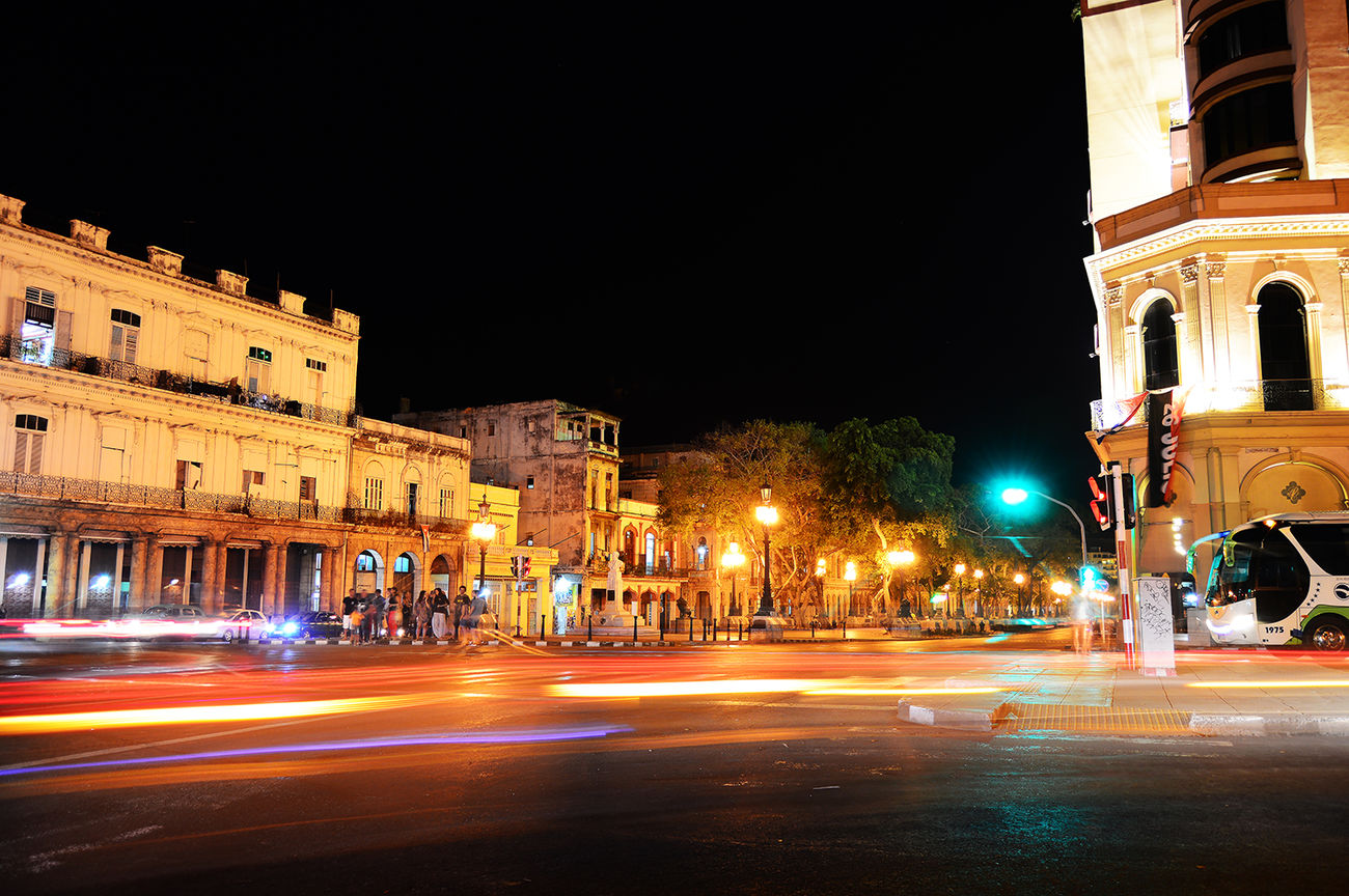 Arquitectura Calle Habana Vieja Nature Nocturna Prado Y Neptuno, La Habana Vieja Street Habana Street Habana Vieja
