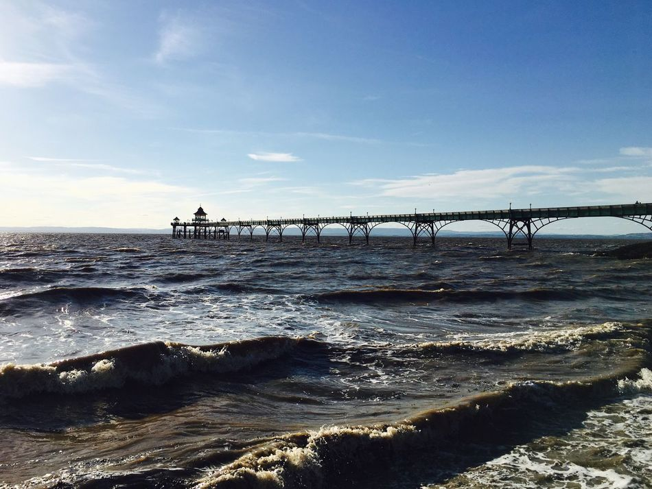 Built Structure Water Sea Sky Architecture Outdoors Horizon Over Water Pier Clevedon Clevedon Pier Scenics No People Day