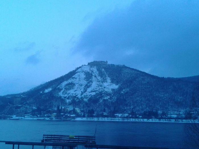 Mountain Winter Citadel Duna Visegrad Landscape Travel