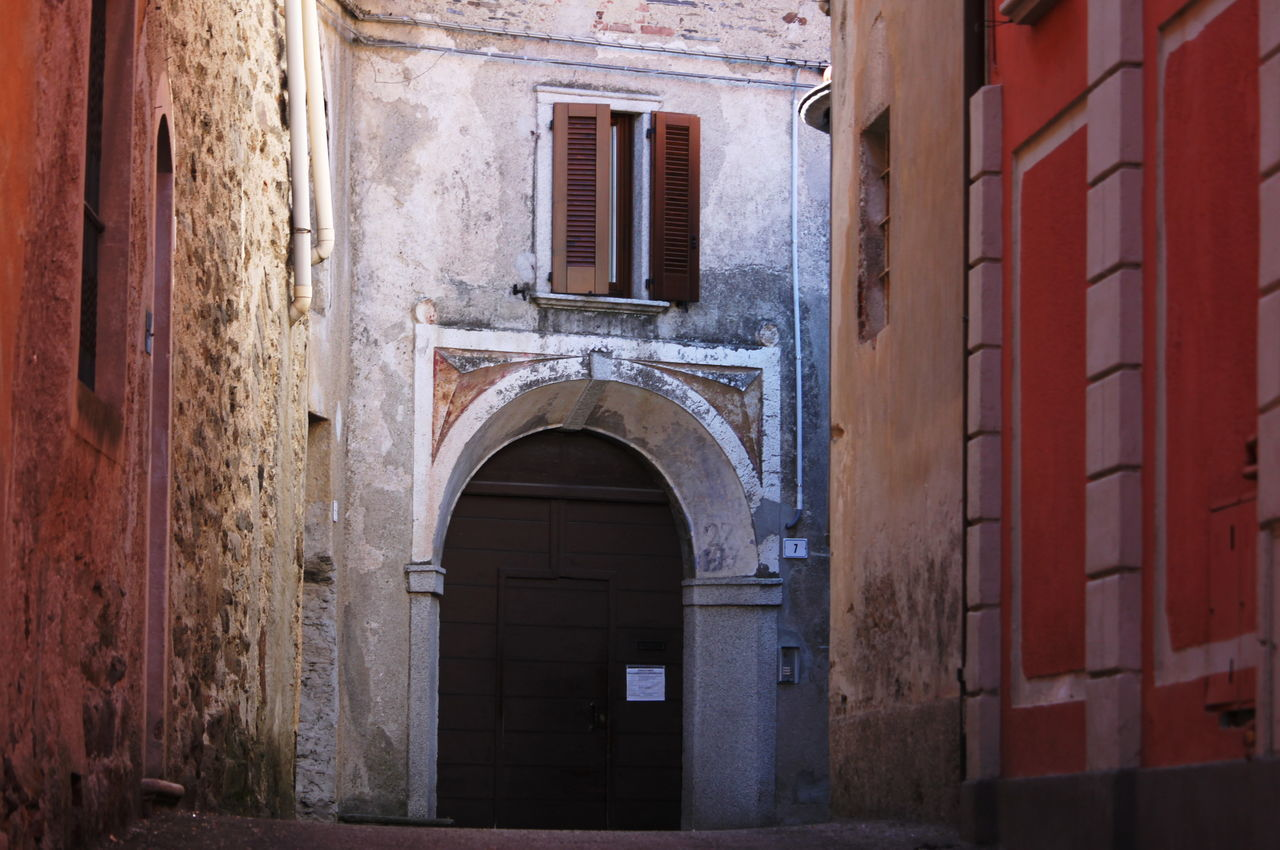Ameno Town Arch Architecture Building Exterior Built Structure Day Door Italy March 2017 No People Outdoors Piemonte Street Town Center