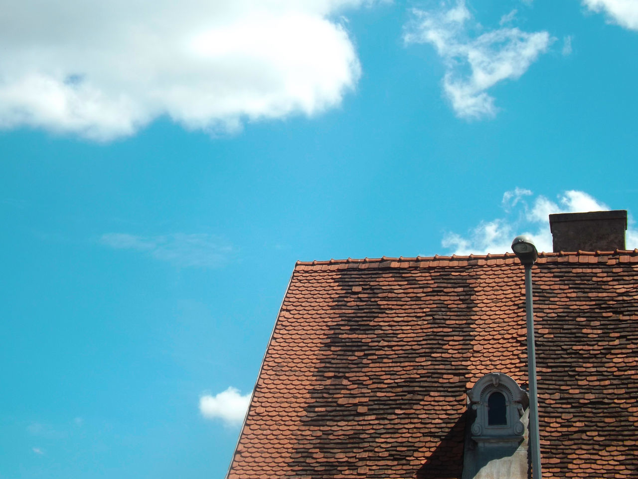 Architecture Building Exterior Built Structure Cloud - Sky Day Low Angle View Nature No People Outdoors Sky Tiled Roof