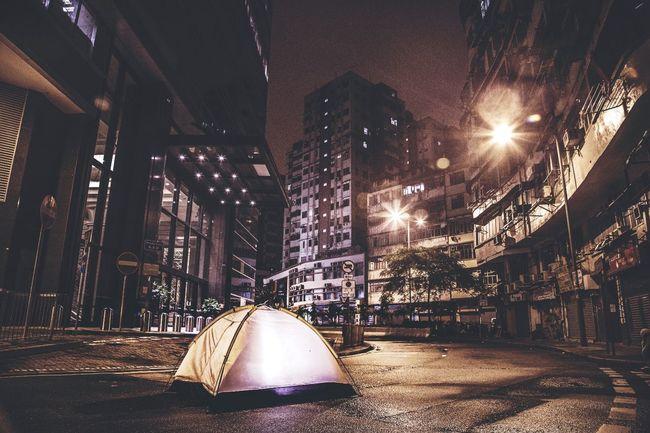 #City #hongkong #camping #HK #streetview #tents Apartment City Life Outdoors First Eyeem Photo