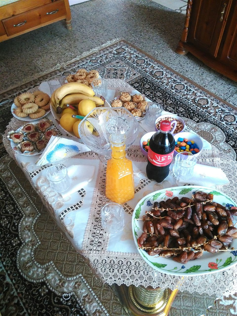food and drink, food, high angle view, indoors, plate, drink, table, breakfast, no people, variation, healthy eating, drinking glass, freshness, day, ready-to-eat, close-up