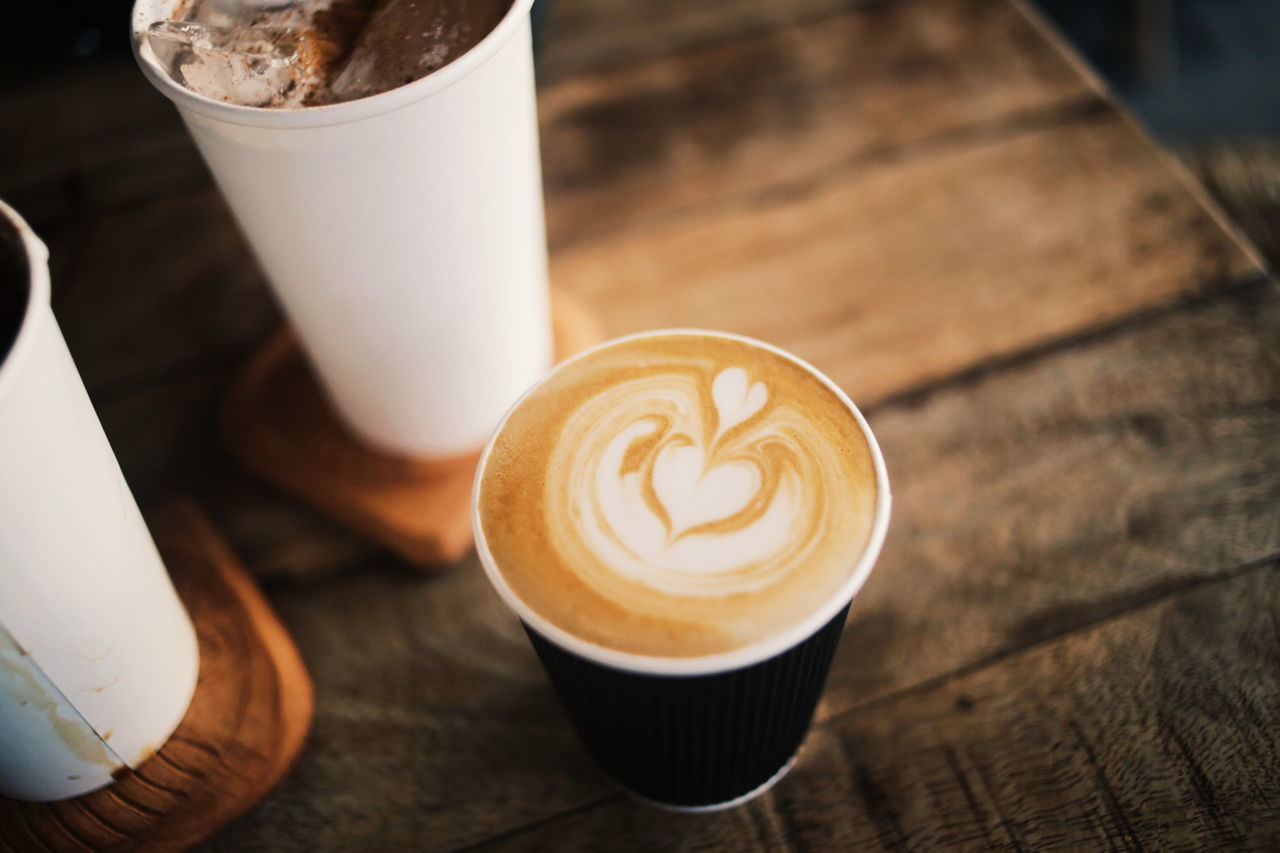 Coffee Drink Coffee - Drink Latte Frothy Drink Coffee Cup Cappuccino Refreshment Cafe Froth Art Milk Indoors  Coffee