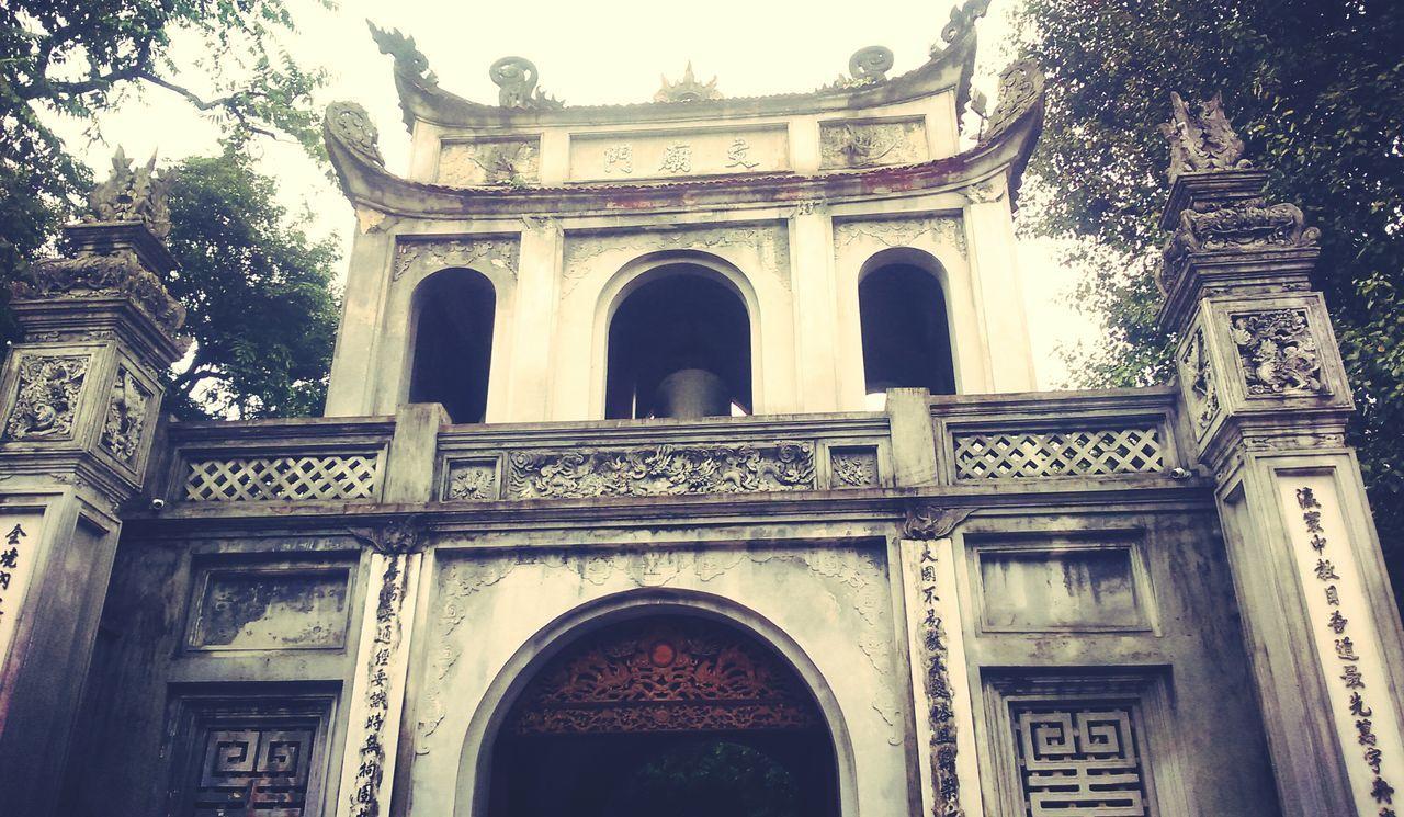 Hanoi Vietnam QuốcTửGiám Gate School Historical Place Ancient Old Knowledge