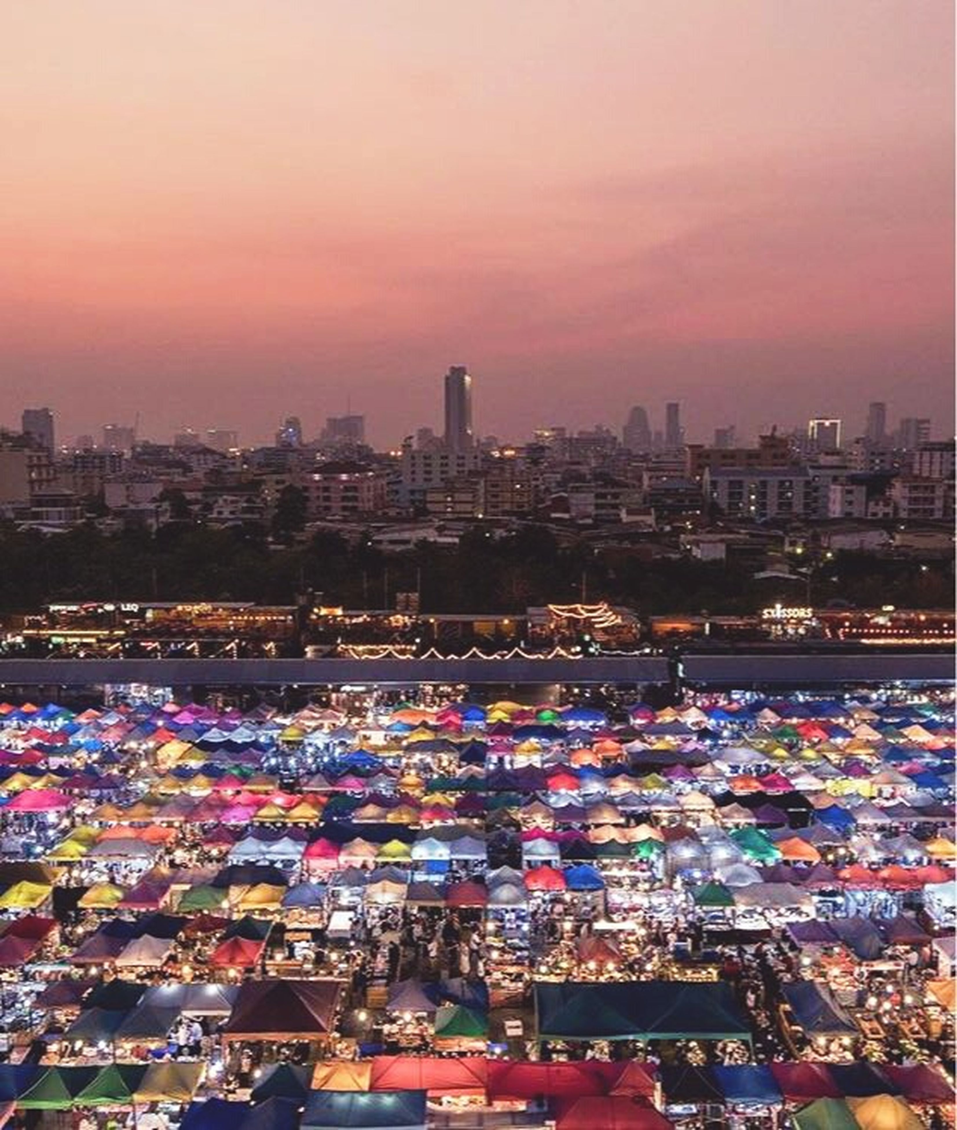 city, cityscape, sunset, travel destinations, building exterior, travel, urban skyline, outdoors, sky, cultures, skyscraper, night, architecture, modern, illuminated, downtown district, no people