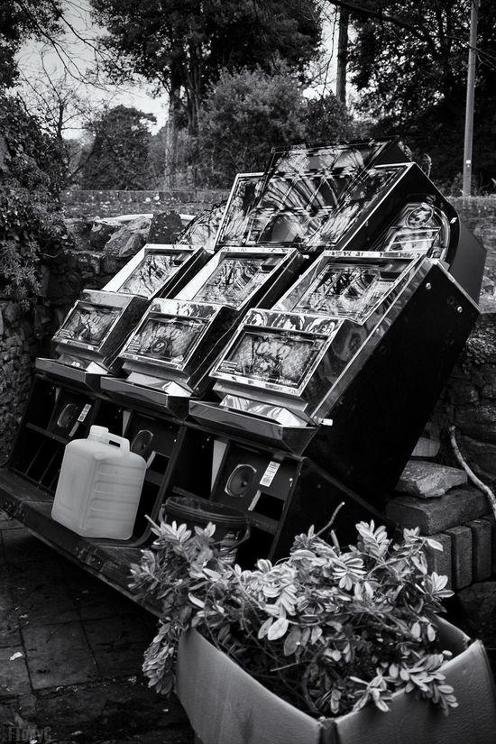 Arcade Arcade Games Blackandwhite Disposed Fruit Machines Gambling Grabage Monochrome Redundant Rubbish Seaside Trash Waste