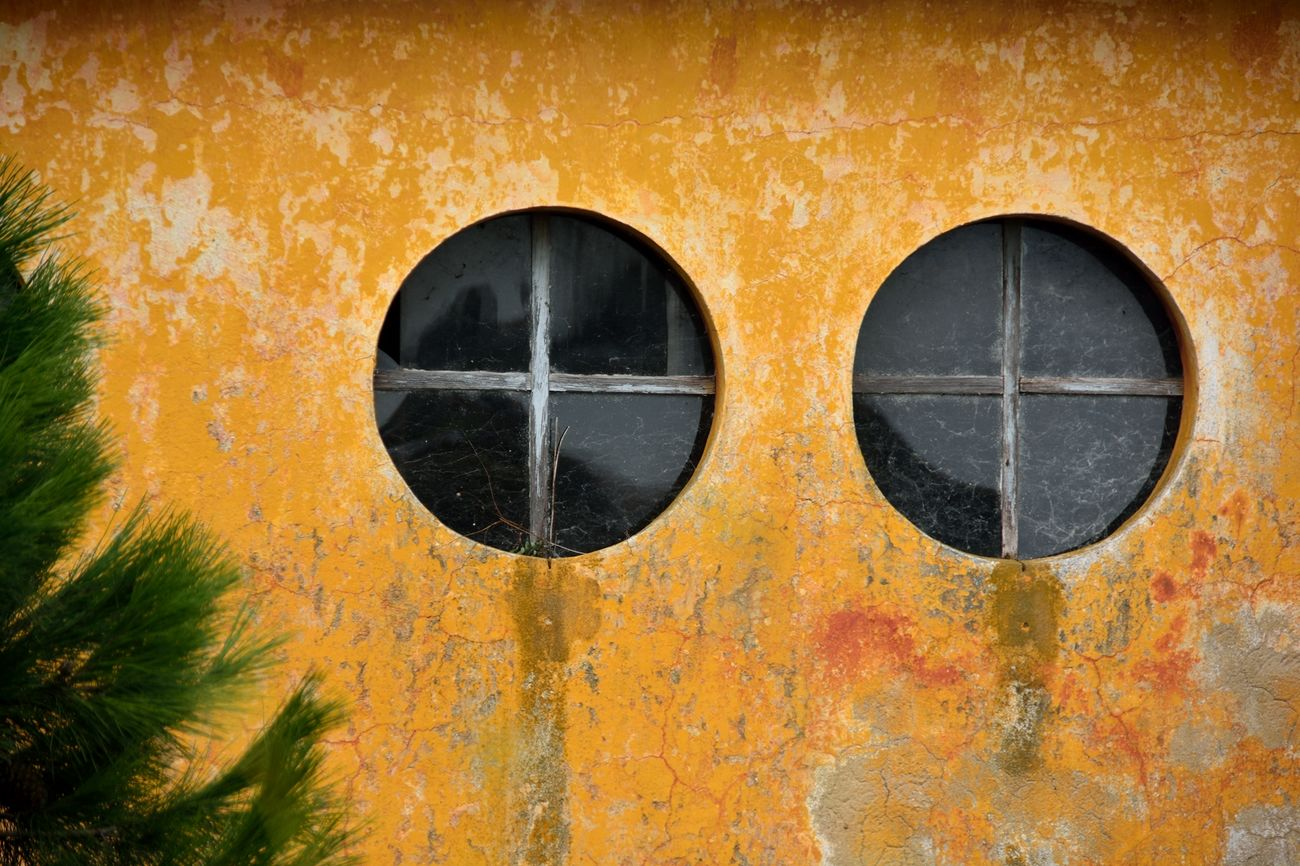 Two Eye Windows . The Passing Of Time