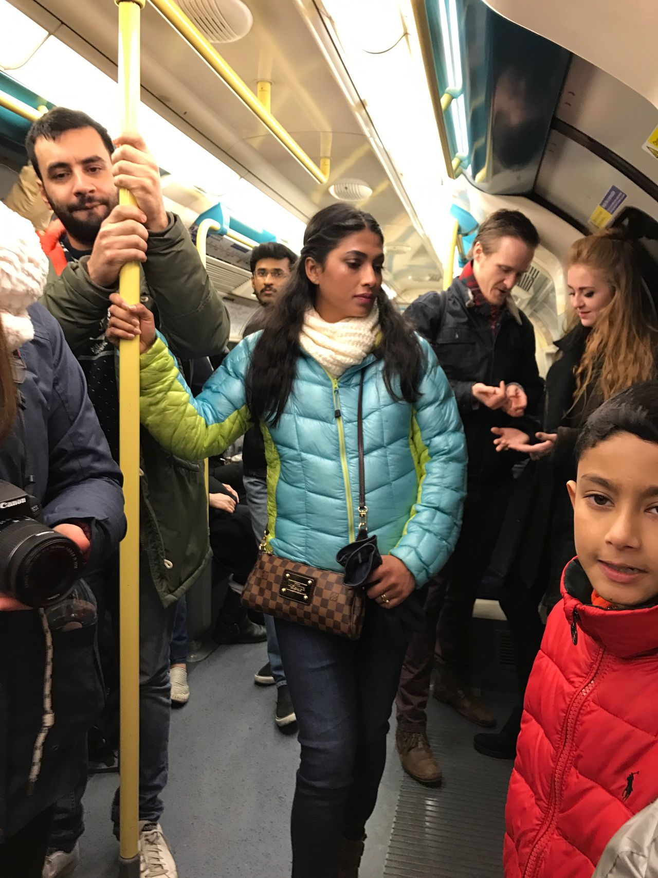 Travel Subway Train Transportation Commuter Group Of People Passenger Public Transportation Rush Hour Large Group Of People Standing Train - Vehicle Crowd Men Mode Of Transport Cultures City Women Adult People Adults Only Underground Nye2016