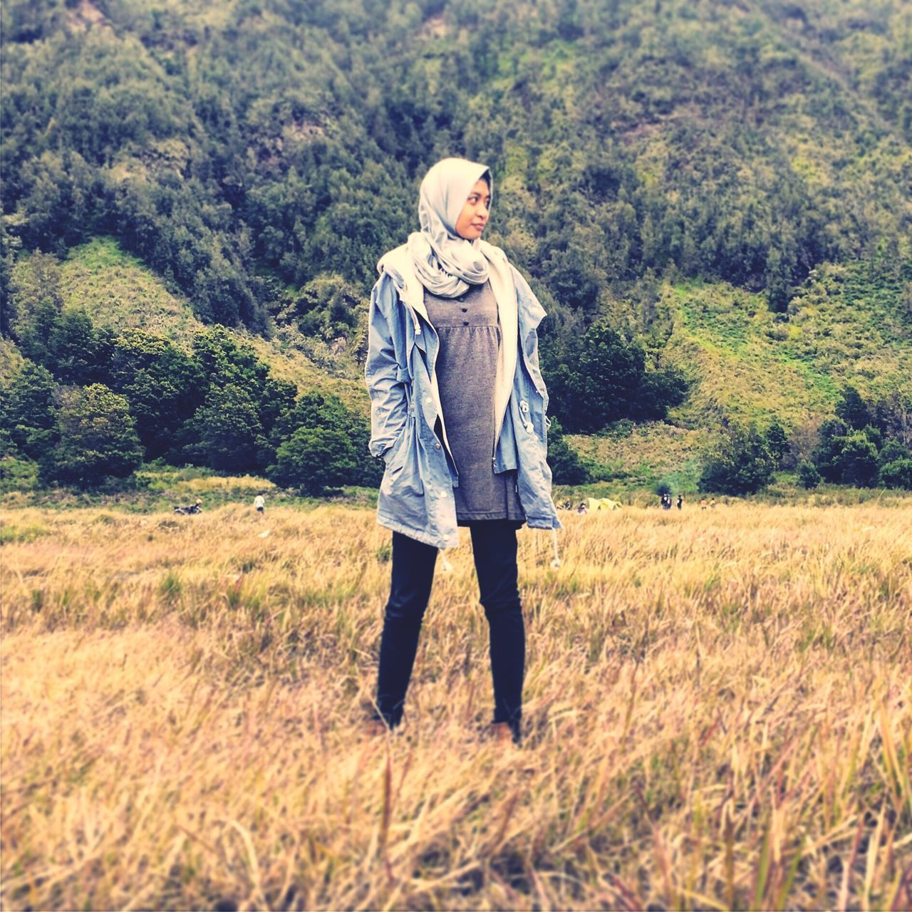Nature Moslem Jilbab Hills Mountain Bromo Mountain INDONESIA