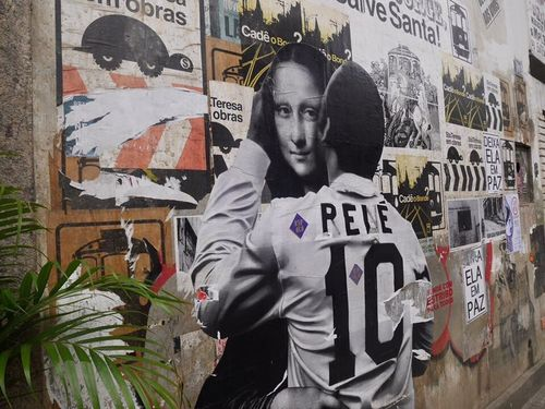 Artlove For Foot! Foot Rio De Janeiro Rio Brasil Favelas Love Art Monalisa Pele Streetart Footlove Artistic Gray Colorfulsouls Rene Renesance