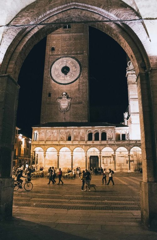 Adult Adults Only Arch Architecture Building Exterior Built Structure City Clock Night Outdoors People Travel Destinations