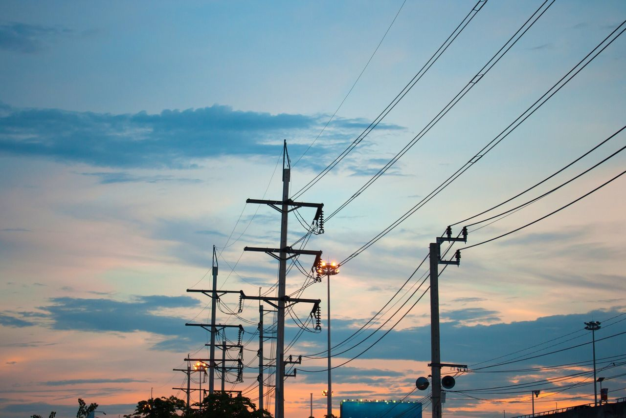 Sky Power Line  Cable Power Supply Electricity  Electricity Pylon Sunset Fuel And Power Generation Low Angle View Connection Cloud - Sky No People Outdoors Nature Electricity Tower Technology Power Lines Power Cable Powerlines Powergeneration Cables Industry Industrial Electronics