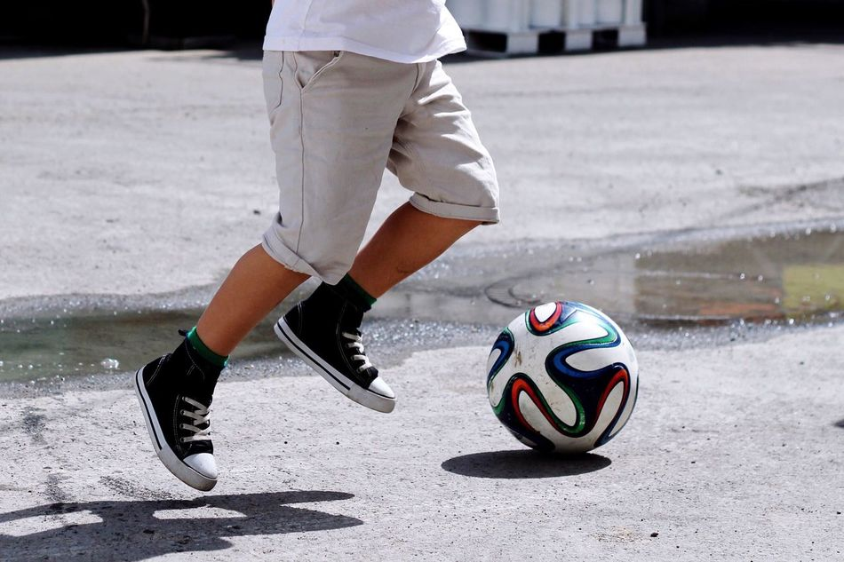 Beautiful stock photos of fußball, Day, Focus On Foreground, Human Body Part, Human Leg