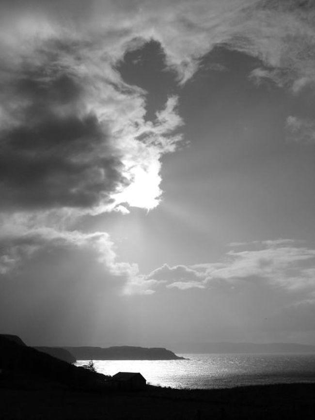 Atmosphere Beauty In Nature Clouds Clouds And Sky Seascape Skye Sunshine Uig