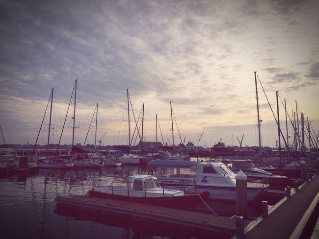 Yacth Sailing Boat Sunset Seascape Seaside