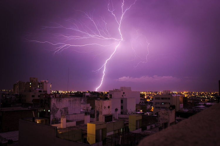 Built Structure City Cityscape Cordobaargentina Córdoba Dramatic Sky Glowing Illuminated Light Lightning Night No People Power In Nature Rayo Scenics Sky Thunderstorm Weather