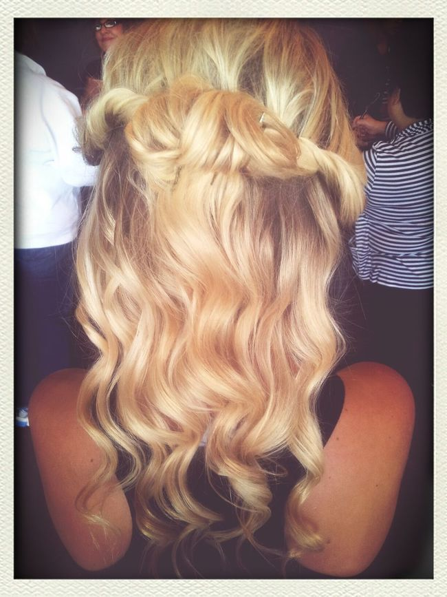 Prom hair I did today! So much fun, and she loved it. Prom Prom Hair  Up Do PAUL MITCHELL