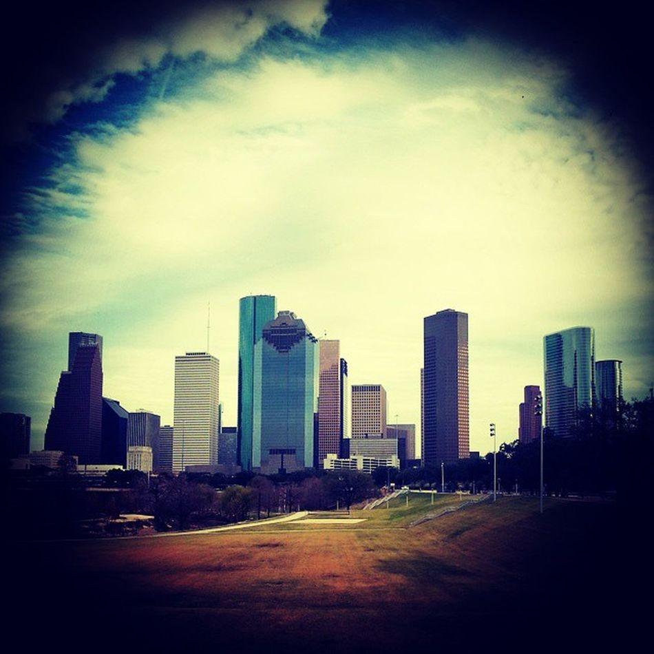 Houston Downtown Texas Skyline BuffaloBayouTrail