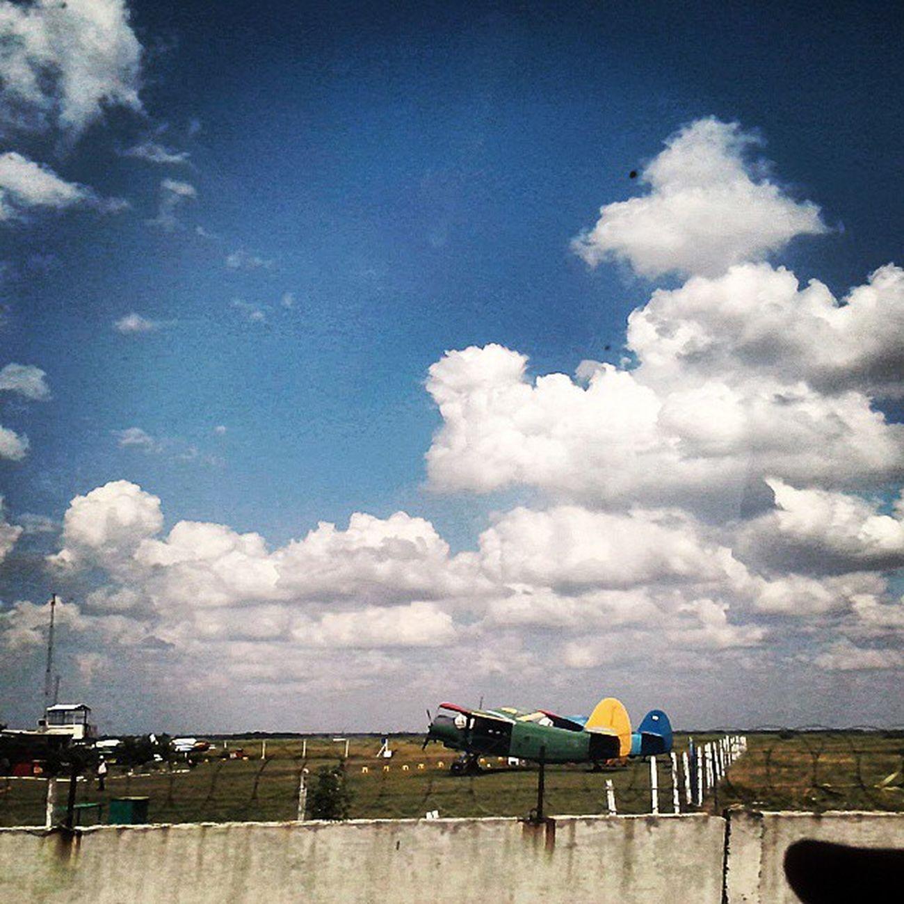 николаевский_аэродром Самолёты самолетики Природа небо тучи Sky