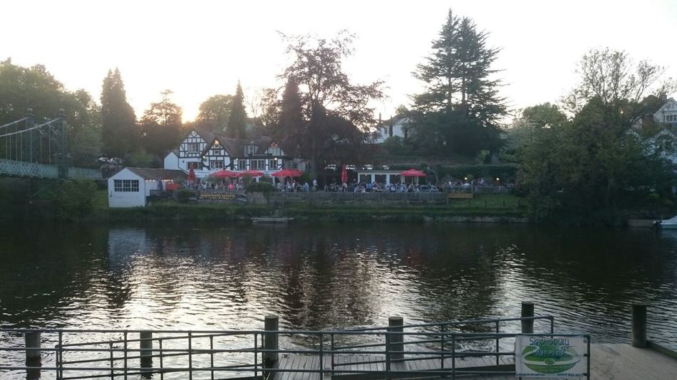 First Eyeem Photo Pub Town Shrewsbury Riverside River Severn Water Reflections Waterfront
