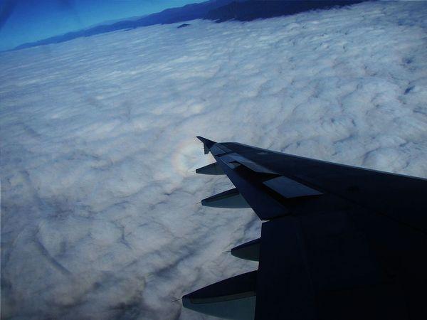 Aerial Shot Plane Sky Cluds Cotton White