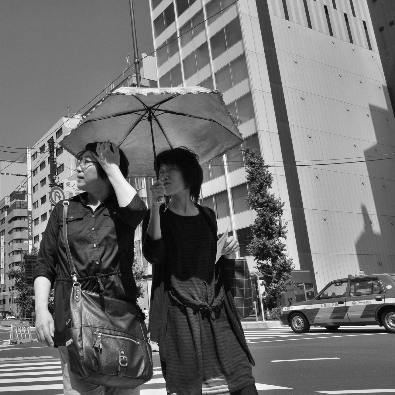 City City Life Hot Day Sunshine Streetphotography_bw B&w Street Photography Blackandwhite Crossing Streetphotography City Street Snapshot CityWalk On The Road Summer Urban at Toranomon 虎ノ門 , Tokyo Japan