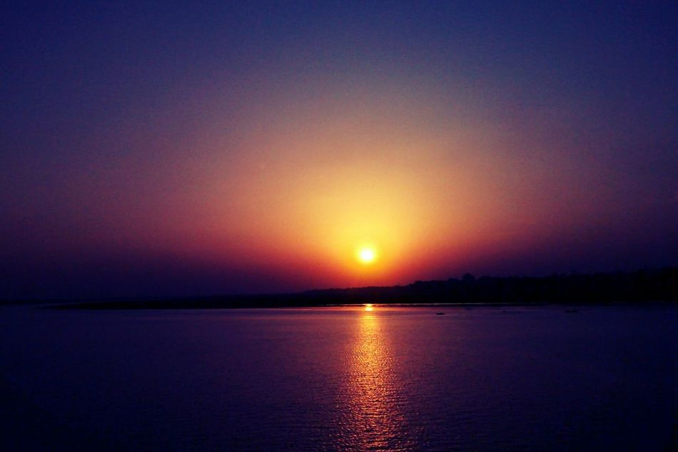 """""""Evening Shades Part 2"""" Naturephotographychallenge River Tapti(Tapi). Captured on the way back to college. River Sunset Tvr430 Showcase April"""