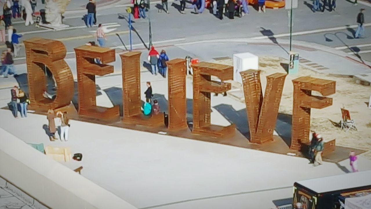 Reno, NV Downtown ArtWork ArtTown Believe Street Shot Street Art Arial View people Street View Crowd The Street Photographer - 2016 EyeEm Awards Words Renotahoe