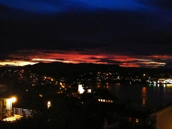 City Sky Night Water Cloud - Sky Mountain Sea Outdoors Skyonfire Sunrise Church Norway Beautiful Travel Destinations Illuminated