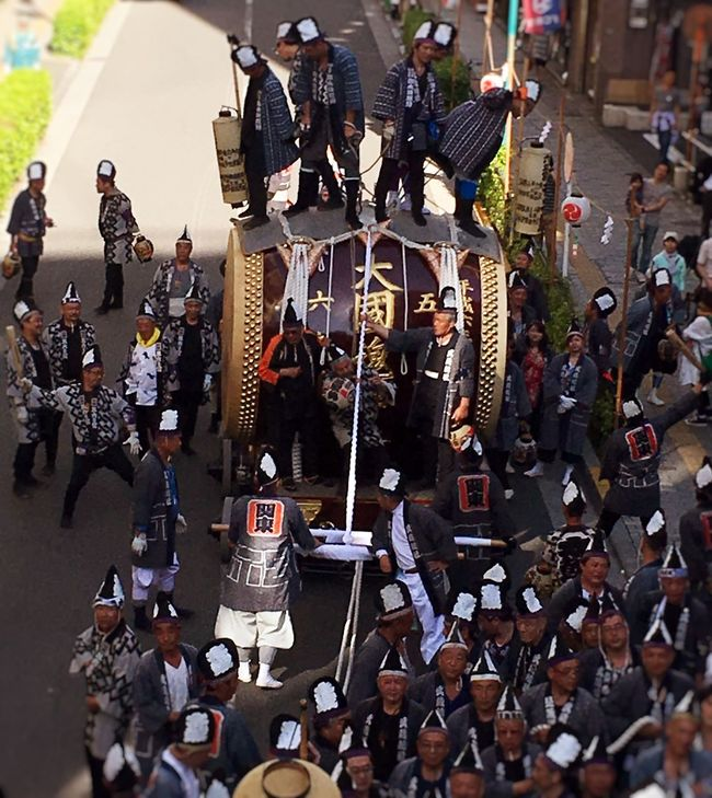 Japan Japanese Culture Festival Shrine TheOldShrine June 大國魂神社 くらやみ祭り お囃子 太鼓 盛り上がってます。