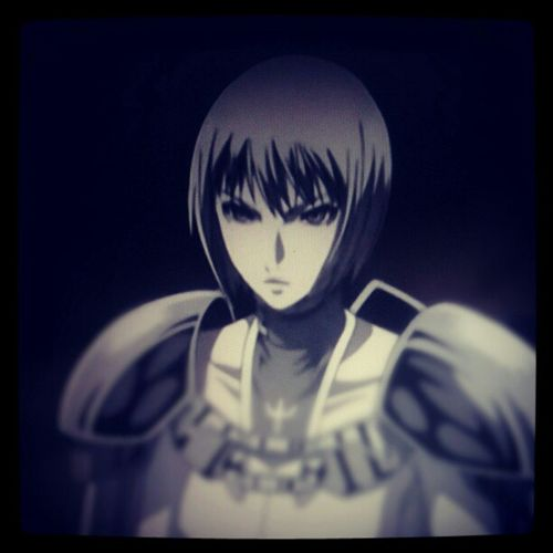 """""""Clare"""" ...Watching my favorite ANIME, """"CLAYMORE"""", THEN IT'S OFF TO CELEBRATE BUBBAS BERFFDAY!"""