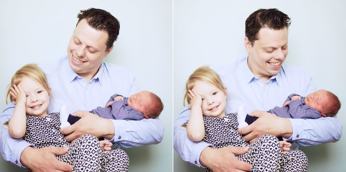 What a Proud Dad with his Littlegirl and Newborn Son ! Love this kind of Photography , it's Unpredictable , Relaxed and such an honor to create a lasting Memory ❤️