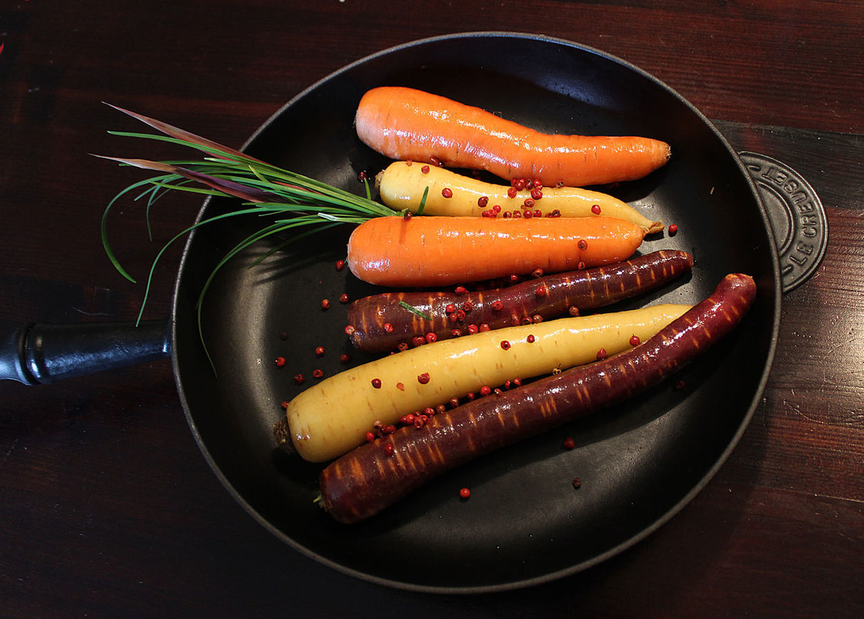 Carrot Carrots Multiple Colour Close-up Food Food And Drink Iron Pan No People Vegatable