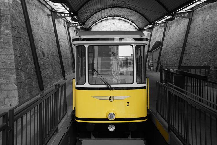 Yellow Transportation No People Public Transportation Outdoors Day Dresden GERMANY🇩🇪DEUTSCHERLAND@ Travel Standseilbahn Körnerplatz