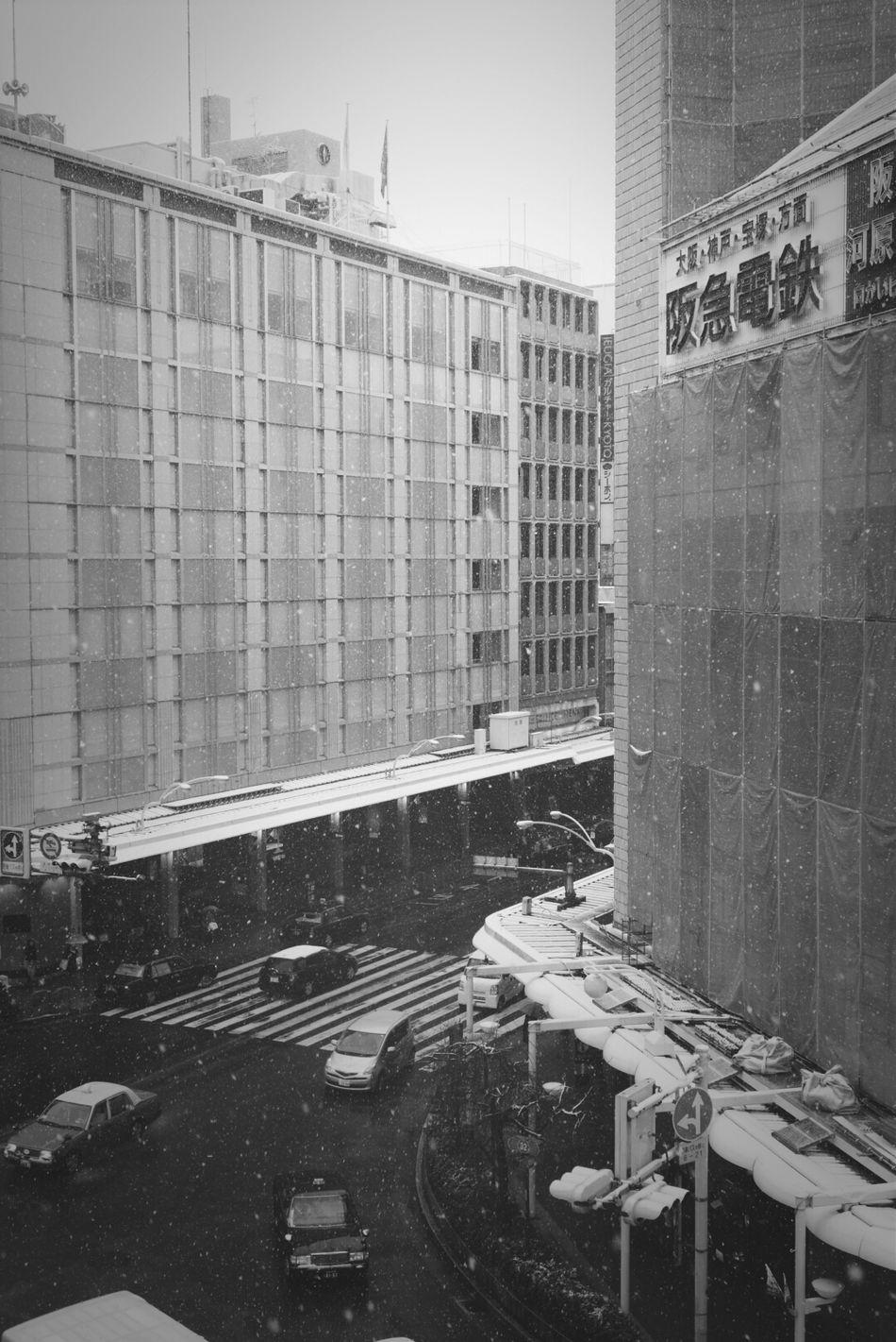 Snow Winter Street Photography Buildings