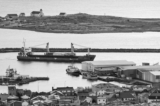 Dinkeldiep coming in St Pierre this morning. Black And White Blackandwhite Boat City Life Harbor Harbour Mode Of Transport Monochrome Outdoors Pentax Saint Pierre Et Miquelon Sea Ship Top Perspective Water