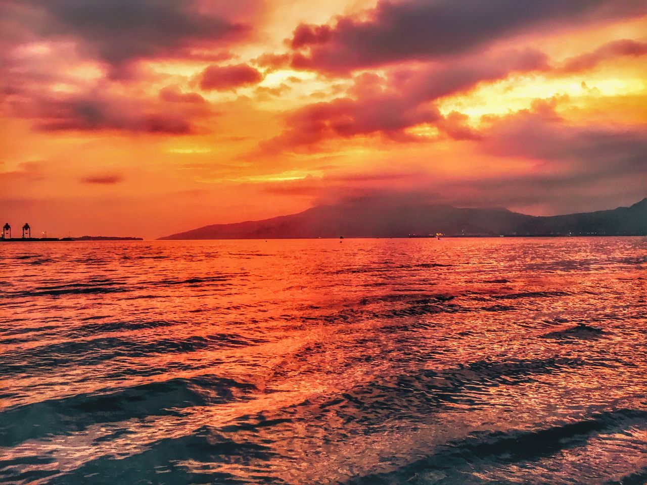 Subic sunset Eyeem Philippines EyeEm Nature Lover TravelPhilippines Beauty In Nature Sunset Sea Tranquility Water Nature Scenics Sky Tranquil Scene No People Dramatic Sky Outdoors Cloud - Sky Horizon Over Water Day