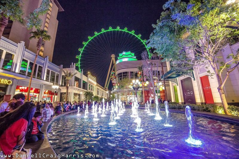 The LinQ in Las Vegas TheLinq Las Vegas Las Vegas Documentary Photography Las Vegas At Night Las Vegas Urban Art Collection Architecture Architecture_collection Eyemphotography Eyem Best Edits Wide Angle View Wide Angle Lens Travel Photography