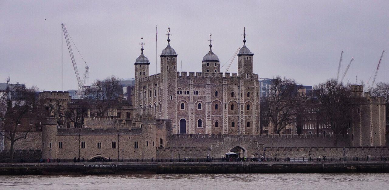 Tower Of London At Riverbank