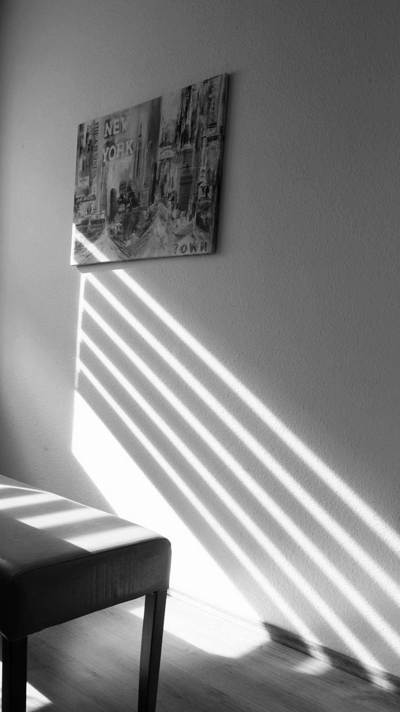 Striped Indoors  Shadow No People Day Living Room