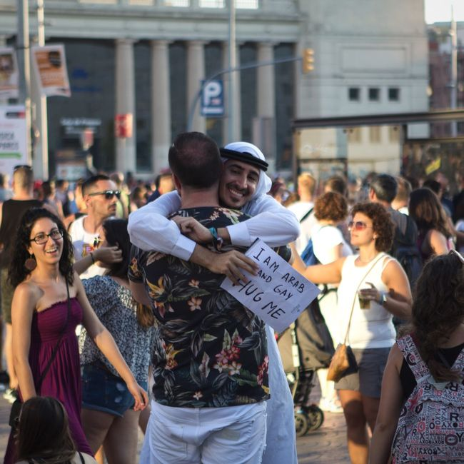 Gay Pride Gay Rights Open Edit Street Photography Candid Hug The Street Photographer - 2015 EyeEm Awards The Moment - 2015 EyeEm Awards Photos That Will Restore Your Faith In Humanity What We Revolt Against