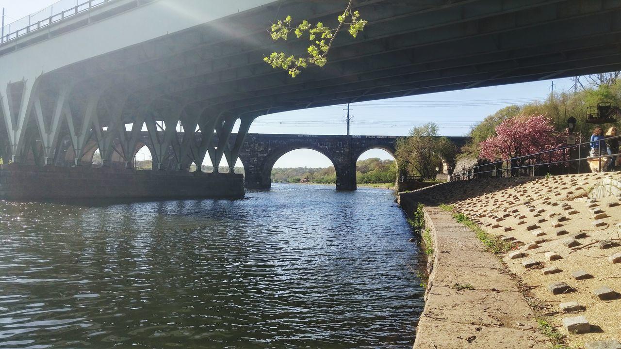 Scenery Under The Bridge River View