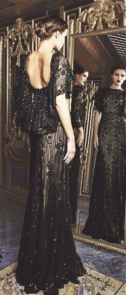 Really gorgeous dress.... Haute Couture Black Dress Gorgeous ♥ Beautiful Dress  Fashion Check This Out .